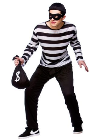 Burglar/Thief Plus size Costume (EM3190)